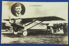 Vintage Japanese Photo Postcard Charles Lindbergh airplane Spirit of St. Louis