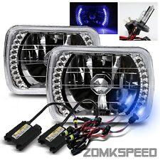 10000K H4-2 Xenon HID Conversion Kit/7x6 H6054 Blue LED Chrome Crystal Headlight