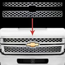 11-14 Chevy Silverado 2500 3500 CHROME Grille Overlay Grill Covers Inserts New
