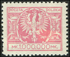 Scott # 213 - 1924 - ' Arms of Poland ', Thin Paper