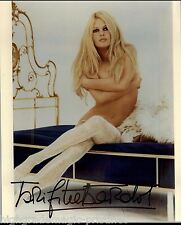 BRIDGET BARDOT FRENCH  NAKED IN BOOTS AUTOGRAPHED SIGNED  8X10 JSA  COA #N38686