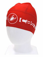 Castelli Viva Thermo Winter Cycling Thermal Skully Cap Hat 4514550-023 - Red