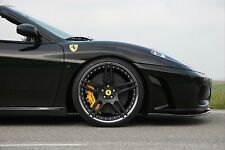 Novitec NF3 Matte Black Wheels with Tires - Ferrari F430 and 360 Modena