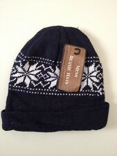MENS WOMENS UNISEX WARM KNITTED SKI BEANIE HAT AIR FORCE BLUE One Size Fits All
