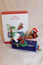 "Hallmark Ornament ""Up For Fun!"" North Pole Playground 2013 NIB seesaw moves"