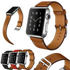 100% Genuine Leather Single Tour Band Strap Bracelet Belt For iwatch Apple Watch