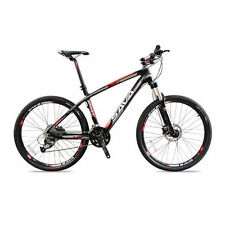 SAVA Carbon Fiber Bicycle 26 inch MTB Mountain Bike 27 Speed Black Red Madrid