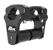 Rox Speed FX 2 Pivoting Risers for 1-1/8 Bar w/Extended Stem Black 1R-P2PPS10K