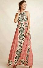 NWT Anthropologie Botanique Maxi Dress Bhanunize 12 Pink