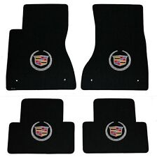 NEW! BLACK FLOOR Mats 2011-2014 Cadillac CTS Coupe Silver Crest logo on all 4WD