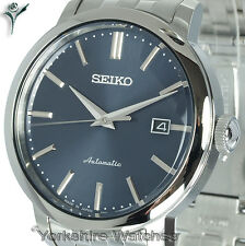 New SEIKO AUTO RADIANT BLUE FACE WITH STAINLESS STEEL BRACELET SRPA25J1