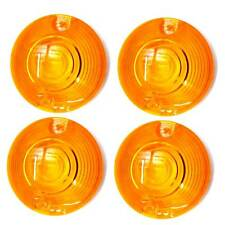 4 Amber Turn Signal Lenses for Harley Touring & Softail Running Light Blinkers