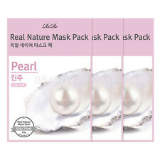 [RIRE] Real Nature Mask Pack - Pearl 20g 3pcs / 1,000ppm of pearl extract