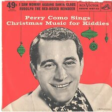 PERRY COMO--PICTURE SLEEVE ONLY--(I SAW MOMMY KISSING SANTA CLAUSE)--PS--PIC--SL