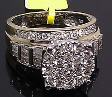 10K Ladies Yellow Gold With 2.00CT Round & Baguette Diamond Ring/ Bridal