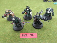 Warhammer 40K 5 partially painted Dark Angel Space Marine Deathwing Terminators