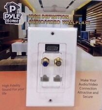 Pyle Home PHDM2RJRF1 HDMI/Mono RCA Audio/Coaxial/Dual Ethernet Combo Wall Plate