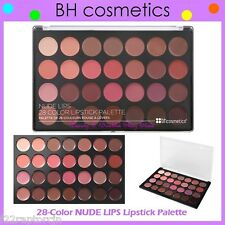 NEW BH Cosmetics 28-Color NUDE LIPS Lip Stick Palette FREE SHIPPING Gloss Shade