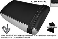 BLACK & WHITE CUSTOM FITS HONDA CBR 600 RR3 RR4 03-04 REAR LEATHER SEAT COVER