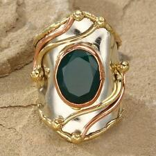 New Tara Mesa Green Onyx Knuckle Ring ~ Size 8 Adjustable