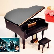 BLACK WOOD PIANO WIND UP MUSIC BOX : Harry Potter Theme Soundtrack