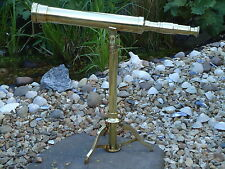 Large Brass Table Top Telescope & Stand Antique Maritine -Film Prop-Shop Display