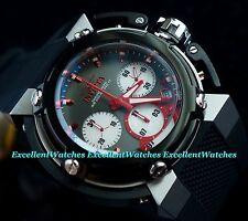 Invicta Mens 46mm X-Wing Quartz Gunmetal Dial Chrono Black Silicone Strap Watch
