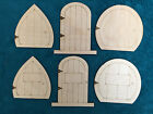 Laser Cut Wooden Fairy Elf Hobbit Doors Pack of 10
