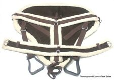 D.A. Brand Brown Suede Bareback Pad w/ Girth/ Breast Harness Full Horse Tack