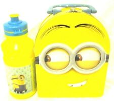 Despicable Me Lunch Tin Minion Dome Tin Lunch Box + random 17oz.water bottle-New