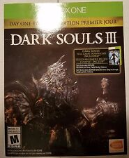 Dark Souls III: Day One Edition for (Microsoft Xbox One, 2016) MINT Complete!!!