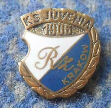 JUVENIA KRAKOW POLAND RUGBY MOTORCYCLE CHESS WEIGHTLIFTING 1970's PIN BADGE