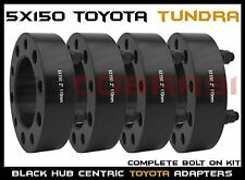 "2007-2016 TOYOTA TUNDRA BLACK HUB CENTRIC WHEEL SPACERS 2"" THICK W/ 14X1.5 STUDS"