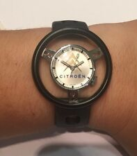 NEUF DE STOCK : MONTRE MECANIQUE PUBLICITAIRE CITROEN @ BRACELET TROPIC @ WATCH