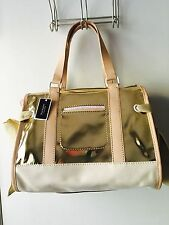 NWT RARE JUICY COUTURE  DAYDREAMER GOLD METALLIC HANDBAG PURSE SATCHEL DUSTBAG