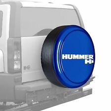 "32"" Hummer H3 Logo - Rigid Tire Cover - Painted - Superior Blue"