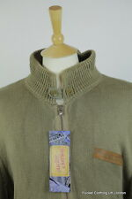 RALPH LAUREN MENS CARDIGAN XL CABLE KNIT ZIPPER KHAKI POLO USA FLAG VINTAGE JEAN