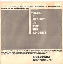 RIP CHORDS--TOUGH PROMO ONLY PICTURE SLEEVE + 45-on COLUMBIA--(HERE I STAND)--PS