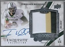 2013 Exquisite Terrance Williams On Card Auto 3 Color Patch Rc # /125 Quantity