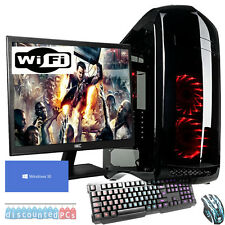 SIX CORE Desktop Gaming PC Computer Bundle  16GB 2TB Windows 10 GTX 1060 6GB