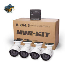 4CH HD 720P IP Camera Home NVR System Outdoor CCTV Security Night Vision 1.0MP