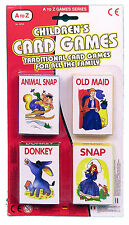A TO Z CARD GAMES CHILDREN TOYS POKER DONKEY ANIMAL SNAP OLD MAID SET OF 4 NEW