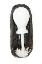 25'' Straight Braided Wig with Headband Espresso Brown Cosplay Wig NEW