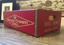 Very Rare Near Mint Vintage Royal Crown Cola Wood Soda Crate Medford Oregon