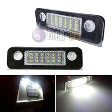 Perfect Fit White 18-LED License Plate Light Lamps For Ford Fusion Fiesta Mondeo