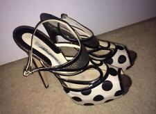 Brian Atwood Womens High Heels Slingback Stiletto Platform Patent Leather 39