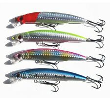 120mm 17g Sinking Fishing Lures Crankbait Crank Bait Tackle Treble Hook