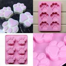Dog Cat Paw Print Silicone Bakeware Mold Mould Chocolate Cookie Candy Tools New