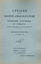 SOCIÉTÉ D'HORTICULTURE de l'Hérault par Léon Schaefer Cactophile Entomologie1956