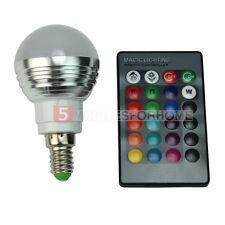E14 Lampadina LED Luce RGB 16 Colori 4 Modi 3W con Telecomando 24 Tasti 5m9e
